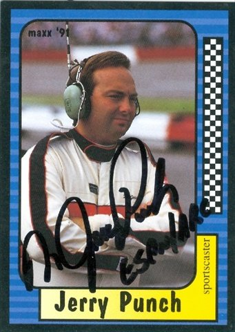 Autograph Warehouse 41175 Jerry Punch Autographed Trading Card Auto Racing Maxx 1991 No. 233 from Autograph Warehouse