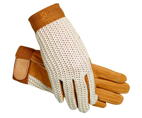 (SSG Lycrochet Ultraflex Gloves 8 Natural/Natural)