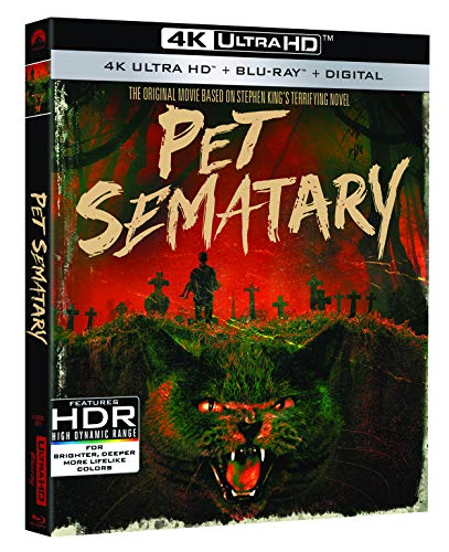 4K Blu-ray : Pet Sematary (30th Anniversary) (With Blu-ray, 4K Mastering, Anniversary Edition, 2 Pack, Digital Copy)