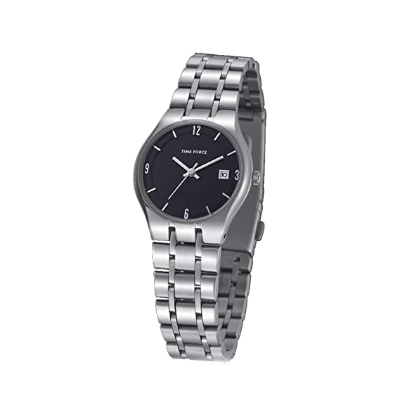 Time Force Reloj Analógico para Mujer de Cuarzo con Correa en Acero Inoxidable TF4012L01M: Amazon.es: Relojes