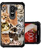 lg g2 custom case - CorpCase LG G2 Case - The Cat Collage Cats/ Hybrid Unique Case With Great Protection