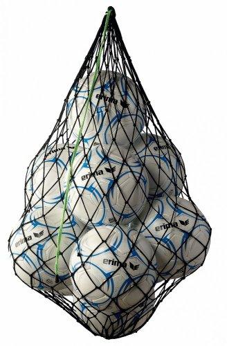 erima Ballnetz für 10 Bälle, Schwarz/Green, One size, 723001