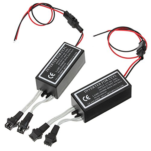 2x spare car angel eyes light halo rings ccfl inverter by QOJA
