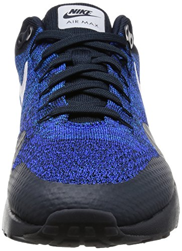 Nike Air Max 1 Ultra Flyknit, Zapatillas De Running para Hombre Negro (Dark Obsidian / White-Racer Blue)