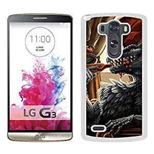 Beautiful And Unique Designed With Dragon Feathers Being Meal (2) For LG G3 Phone Case