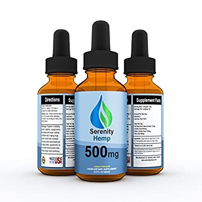 Serenity Hemp Oil - 2 fl oz 500mg - Relief for Stress, Inflammation, Pain, Sleep, Anxiety, Depression, Nausea - rich in Vitamin E, Vitamin B, Omega 3,6,9 and Much MORE!