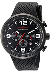 red line Men's RL-50057-BB-01-RDA Apex 12 Analog Display Japanese Quartz Black Watch