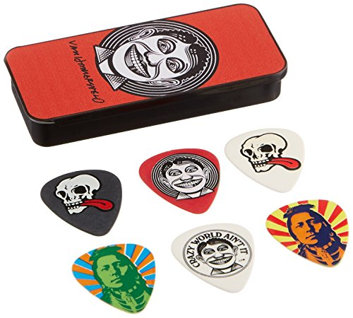 Dunlop JVHPT01M John Van Hamersveld Johnny Face Pick Tin, Assorted, Medium, 6 Picks/Tin
