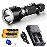 Fenix TK22 2014 Edition 920 Lumens 300 Yards Cree XM-L2 U2 LED Tactical Flashlight w/ two Geniune Fenix 3400mAh 18650 Rechargeable Batteries, a Two Channel Universal Charger, AC and Car Power Adapter & a Bright Lumentac Keychain Light