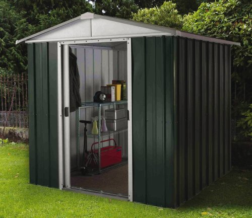 Yardmaster-6-x-4-ft-Deluxe-Apex-Roofed-Metal-Shed-with-Floor-Frame-Grey
