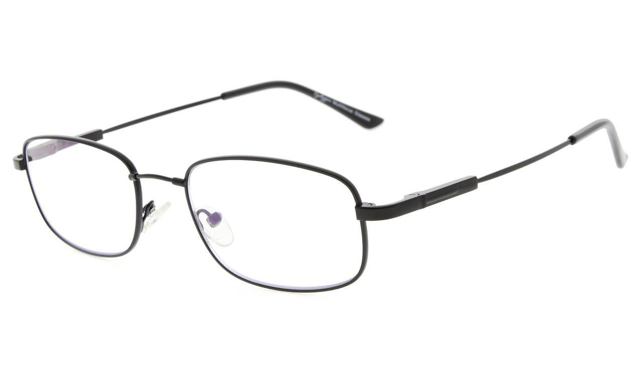 2f00dd582b6f5 Eyekepper Lunettes de vue Progressive 3 niveau vision Anti UV lunettes  loupe lunettes de lecture souple homme femme (Black