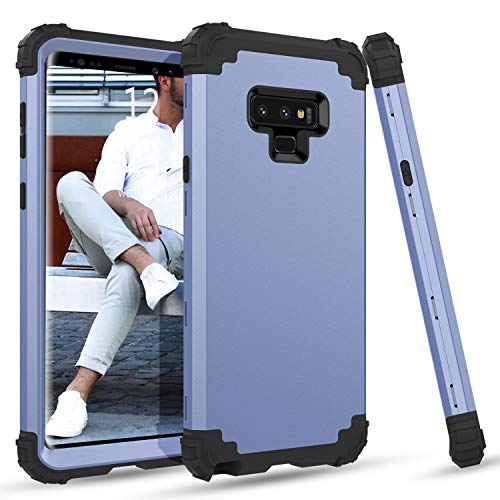 BENTOBEN Case for Samsung Note 9, 3 in 1 Hybrid Hard PC Soft Rubber Heavy Duty Rugged Bumper Shockproof Anti Slip Three Layers Full Body Protective Phone Cover for Samsung Galaxy Note 9, Light Blue