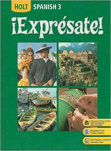 Amazon expresate spanish 3 9780030453724 rinehart and expresate spanish 3 fandeluxe Choice Image