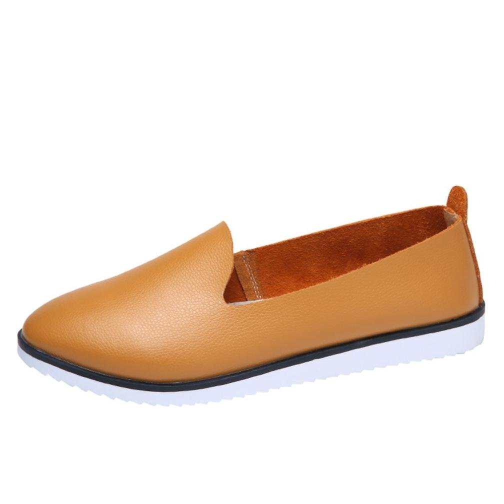 Mocassins en Cuir Femm, Overdose Automne Hiver Chaussures Plates Sports Casual Slip on Loafers OverDose-100022