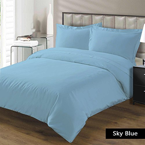 Read About Luxurious and Hypoallergenic 100% Egyptian Cotton 1000 Thread Count Duvet Cover Sky Blue ...