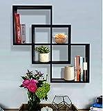 Shelving Solution Quadrate Decorative Wall Shelf (black) For Sale