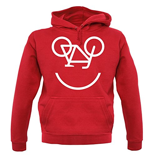 Couleur Smiley Unisex 12 pull Dressdown Bicycle Face Rouge Sweat tq5UU0aw