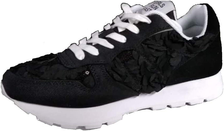 Sun68 Z19207 11 - Zapatillas Deportivas para Mujer, diseño de Flores, Color Negro Negro Size: 38 EU: Amazon.es: Zapatos y complementos