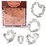 Fall/Thanksgiving Cookie Cutters - 5 Piece Boxed Set - Pumpkin, Turkey, Maple Leaf, Acorn, Squirrel - Ann Clark - US Tin Plated Steel