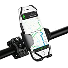 [Upgraded Version] Bike Mount Bicycle Holder, Mpow Universal Phone Cradle & Motorcycle Phone Mount Holder for iPhone 7 7 Plus 6 6s Plus Galaxy S7 S6 Edge and GPS Device with 360 Degrees Rotatable,2 Silicones Butterfly Bands,Rubber Strap,Slide-Proof Clamp,One-button Released-Up to 5.7 Inches