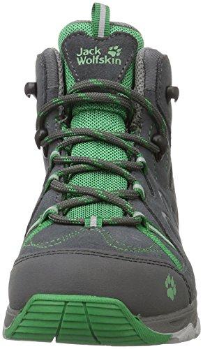 Jack Wolfskin Unisex-Kinder MTN Attack 2 CL Texapore Mid K Trekking-& Wanderstiefel Grau (Leaf Green)