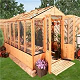 BillyOh 9' x 6' Lincoln Wooden Polycarbonate And Styrene Greenhouse With Opening Roof Vent
