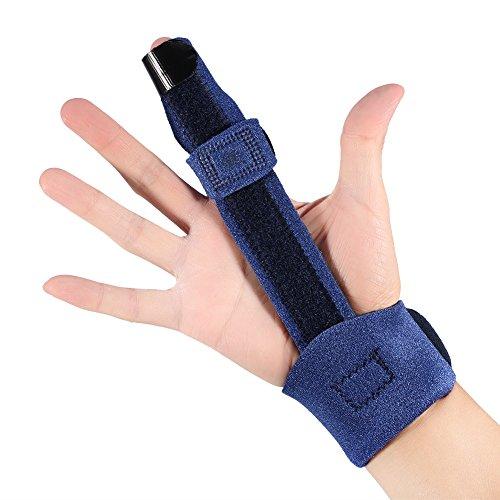 指の副子、中手骨折のための調整可能な指の副子のブレースキュアのマレットの指の修正のサポートのブレース