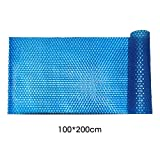 Dreamseeker Pool Cover Solar Rectangular Swimming Pool Solarplane Heating Blanket Cover, 400μm, 100 200cm / 100 300cm