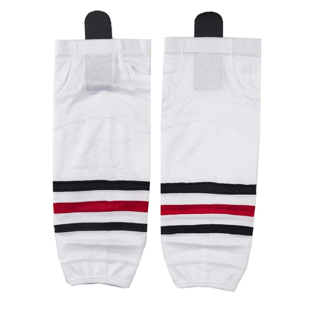 COLDINDOOR Youth Hockey Socks White, Child Kids School Team Dry Fit Ice Hockey Socks Small Size White XS by COLDINDOOR