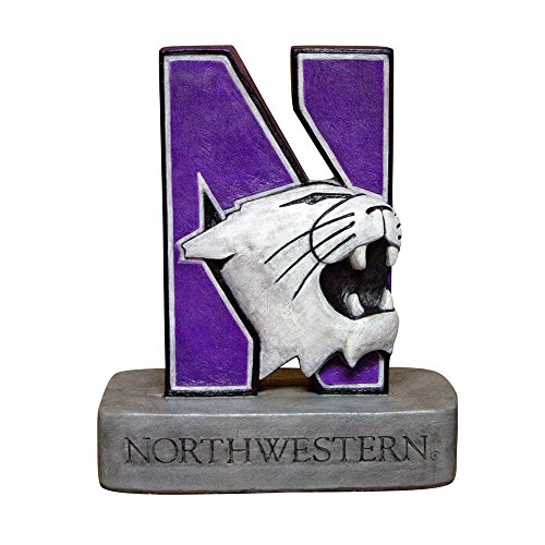 Northwestern Wildcats NCAA ''N-Cat'' Wildcat College Mascot 18in Full Color Statue by Stone Mascots