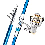 Telescopic Fishing Rod Reel Combos Handing Blade Carbon Fiber Fishing Rod Pole with Spinning Reel Portable Combos for Travel 7.87ft