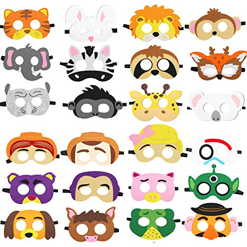 DANGSHAN Animal Felt Masks Party Favors for