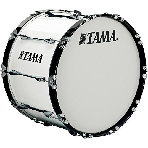 Tama Marching 24 x 14 in. Starlight Marching Bass Drum Sugar White