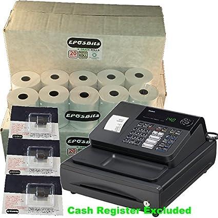 eposbits marca® 60 rollos + 3 x de tinta para Casio 140 CR 140 CR caja registradora: Amazon.es: Oficina y papelería