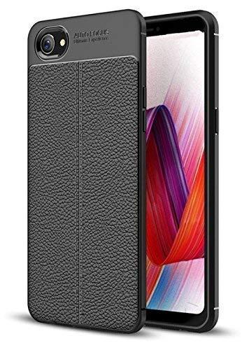 hot sale online 5e3de cccec KOKO Leather Textured Shock Proof Slim TPU Back Case Cover for Oppo Realme  1 (Black)