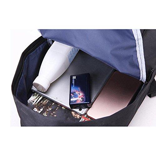 Espeedy Simple moda mujeres escuela bolsas de cuero sólido color Vintage estudiante mochila relampagada mujeres chicas casual bandolera azul claro