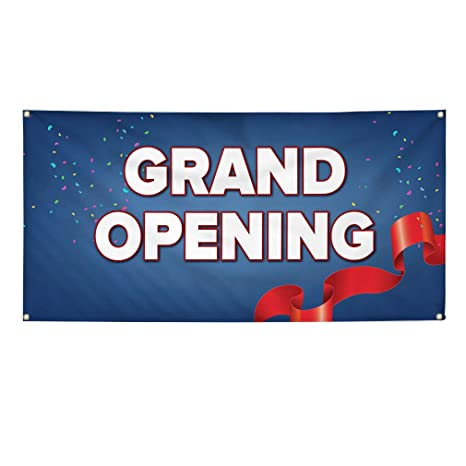 Set of 2 6 Grommets Vinyl Banner Sign Under New Ownership #1 Style I Business Marketing Advertising White Multiple Sizes Available 32inx80in