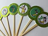 8 Green Eggs Ham Cupcake Toppers Favors Girl Boy Birthday Party Favor Tags Bags Dr Seuss