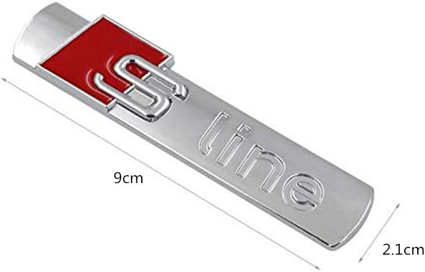 BOLLAER Car Styling S Line Sline Badge Logo Sticker Lettering 2pcs S Line Stickers Decals for Audi A1//A3//A4L//A6L//A8L//Q5//Q7//TT 7.2 x 1.4cm