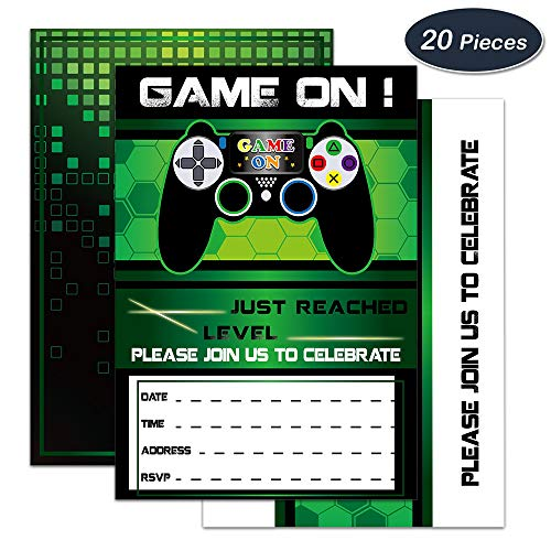 WERNNSAI Video Game Invitations - 20 Set Magical