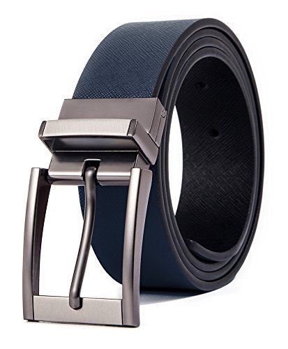 - Cyparissus Genuine Leather Belt for Men with Single Prong Buckle (115CM(waist34- 36