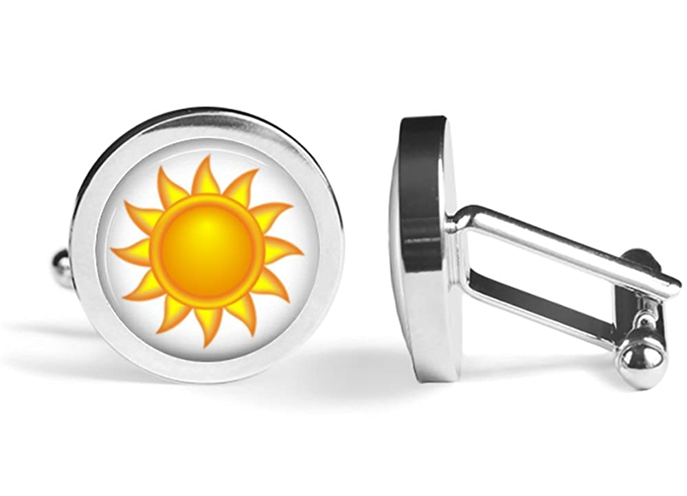 Sun Del Sol Cufflinks Angled Edition
