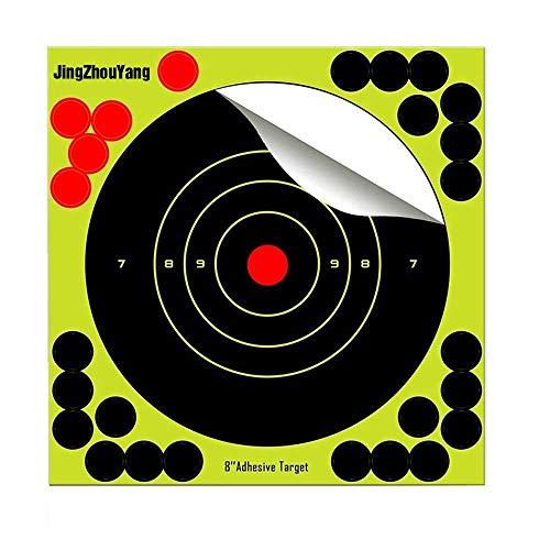 JingZhouYang Shooting Targets 6.5 Inch Self Adhesive Paper Reactive Splatter Targets Stickers 100 & 75 & 50 & 40 & 25 Pack for Gun Rifle Pistol Bb Gun Airsoft Pellet Gun Air Rifle