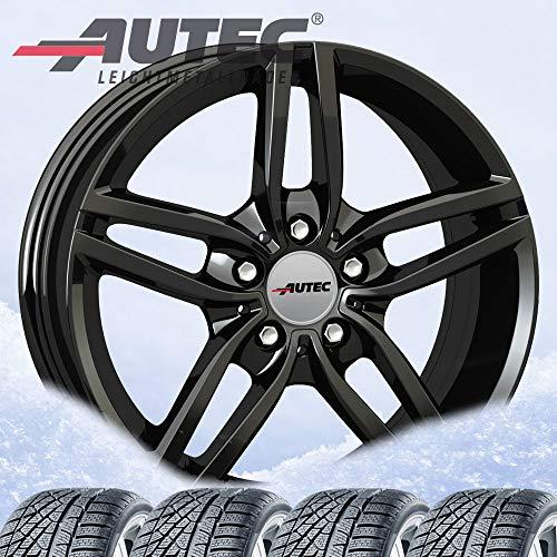 4 winter wheels Autec Kitano Xtra 7.5 x 17 ET52 5 x 112 black with 225/55...