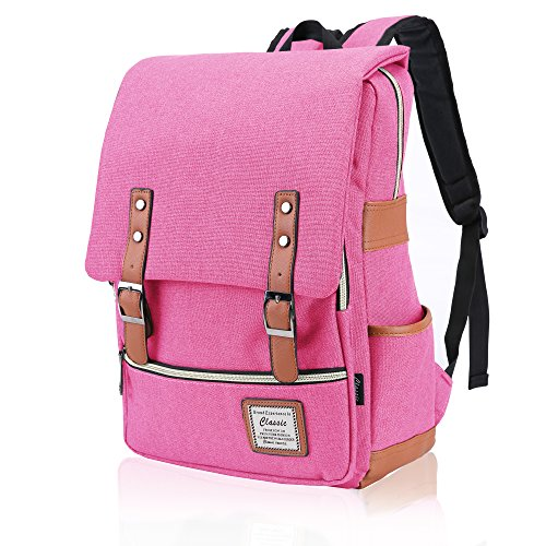 FIGROL Vintage Laptop Backpack,Large Capacity and Durable-School Travel Working Hiking (Large Computer Backpack)