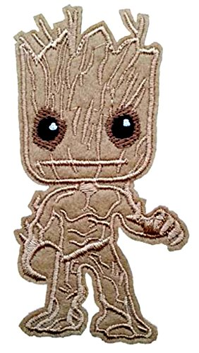 AVENGERS INIFINTY WAR Patch - GROOT - Superhero Comics Logo Character Theme Series 2018 New Marvel Movies Embroidered Sew/Iron on Badge DIY Appliques