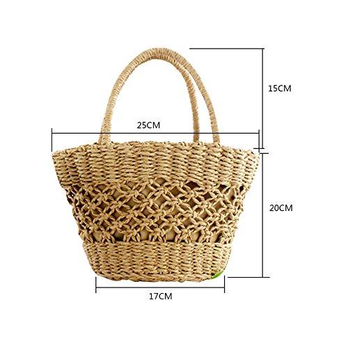 pour fourre à fourre sac plage tout à à demi bandoulière Sac tout en sac lune la les yunt sac Sac sac à tissé paille femmes main Beige voyage de bandoulière tressé de main bambou de de qWBcXWwF8