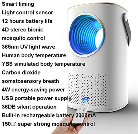 DPPD Intelligente Lichtsteuerung Moskito-Killerlampe mit Fernbedienung, zeitgesteuerte Moskito-Killerlampe für Haushalt und Außenbereich, physische Elektroschock-Killerlampe