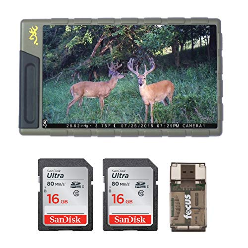Browning Trail Cameras BTC VWR Pocket-Sized Image and Video Viewer (7″ Color Screen) with Memory Cards Kit | for Use with Any Game Cam