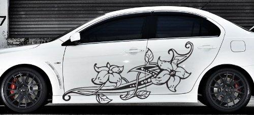 Amazoncom Floral Flower Car Boat Vinyl Graphics Decal Left - Vinyl graphics for cars